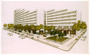 architects drawing of new exterior
